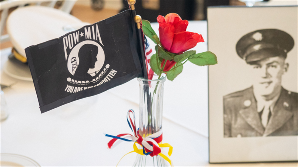 Table Decor at POW/MIA Recognition Ceremony