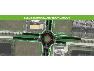 An image of the proposed Lee Vista Roundabout