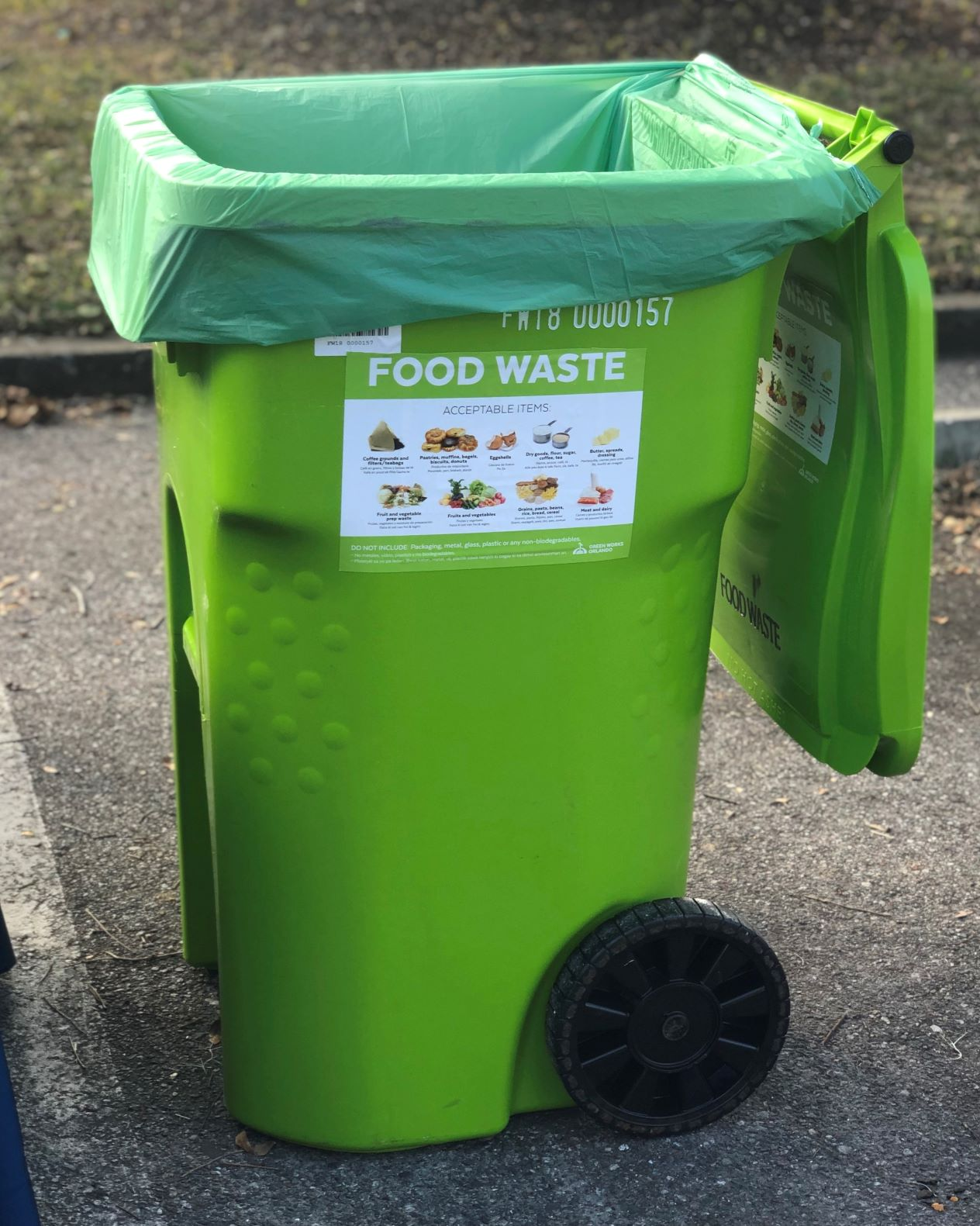 Food waste cart