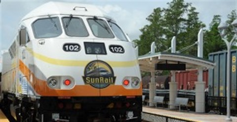 SunRail Train at Station