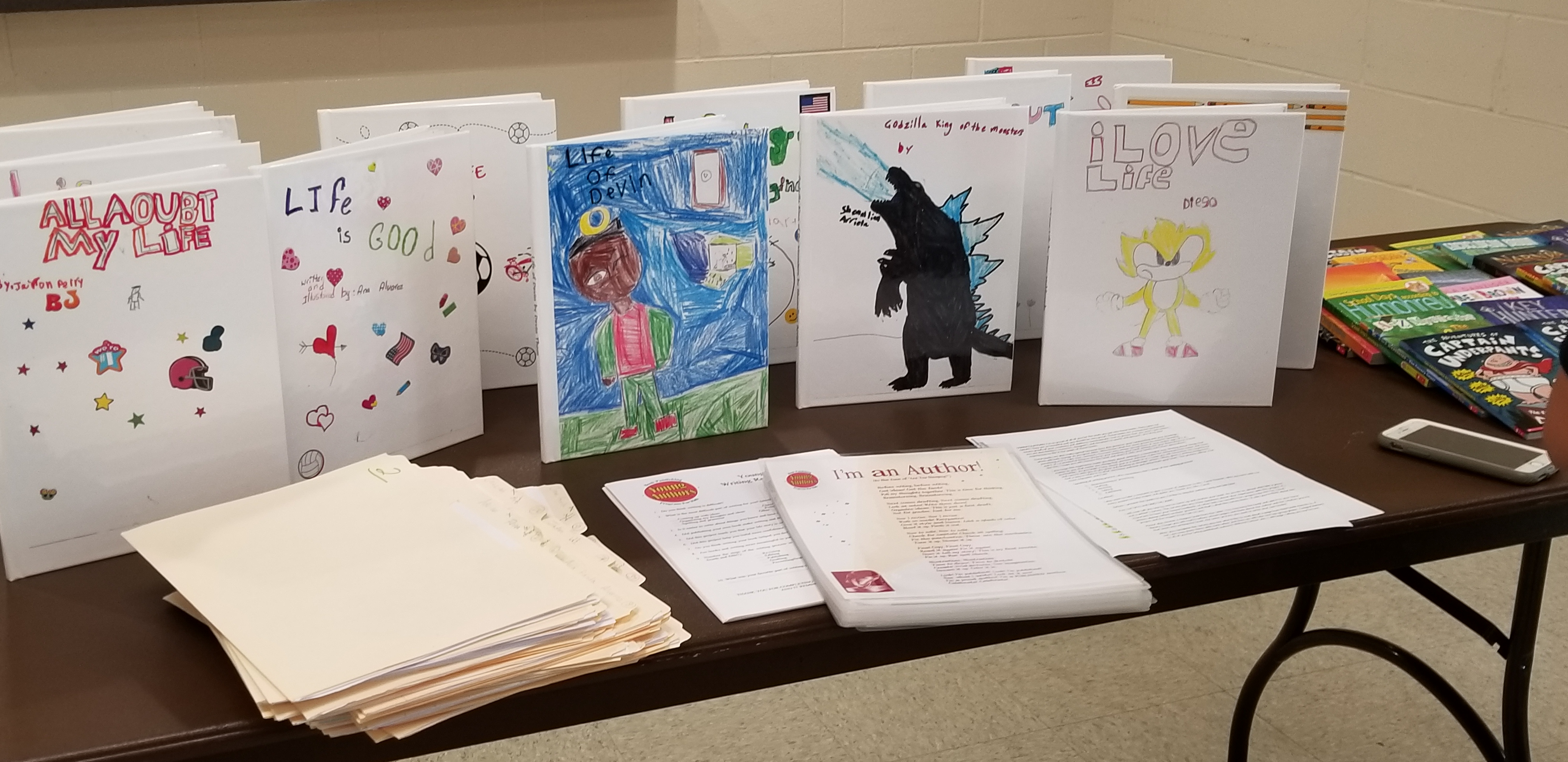 Books written by children in the21st CCLC program.