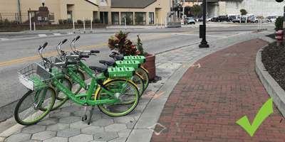 dockless bike parking right way