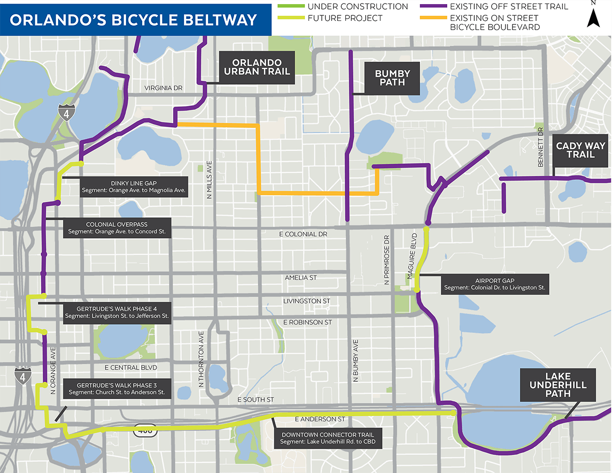 Orlando Bicycle Beltway Map